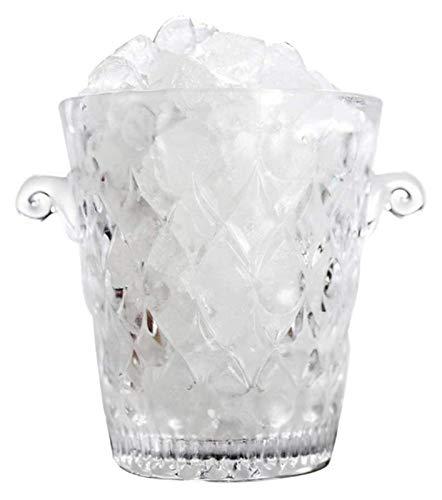 Clear Glass Wine Cooler Bebida Cubo Bucket Party Bucket BeerBarrel Ice Cube Contenedor Enfriador de Vino Refrigerador Carrera Manija-1L 14x15cm (6x6inch) 1214 (Color : 1l, Size : 14x15cm(6x6inch))