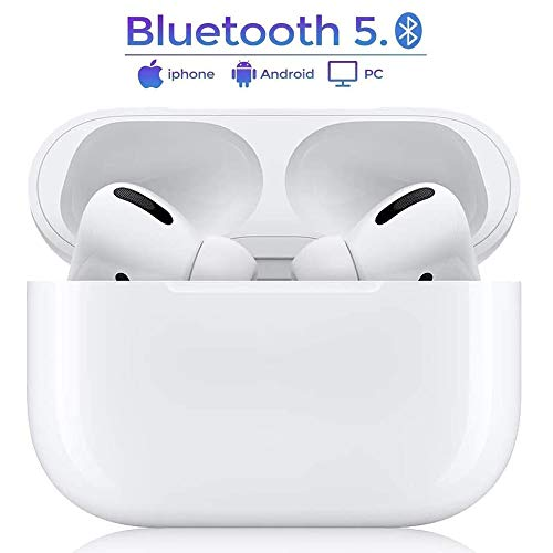Bluetooth-Kopfhörer,Kabellose Kopfhörer IPX5 wasserdichte,Noise-Cancelling-Kopfhörer,Geräuschisolierung,mit 24H Ladekästchen und HD Stereo Mikrofon,für Apple Airpod pro/Android