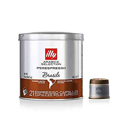illy Coffee, Luxury Arabica Coffee Selection, iperEspresso Capsules, Brazil, Pack of 2 x 21 Capsules