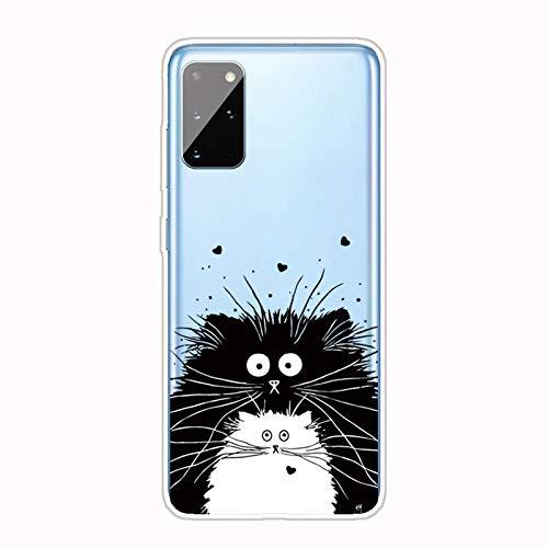 AChris Funda Movil para Samsung Galaxy S21 Ultra Transparente Silicona con TPU Suave Flexible Choque-Absorbente Rasguño-Resistente Carcasa con Patrón Compatible con Galaxy S21 Ultra - Ratón
