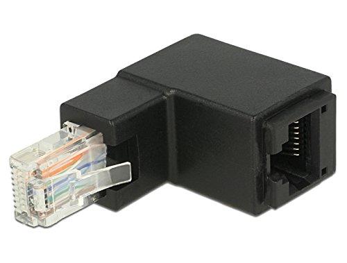 Delock 86424 - Netzwerk Adapter RJ45 Stecker/Buchse Oben gewinkelt Cat.6 UTP, 86424