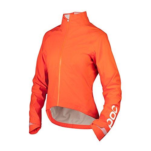 POC AVIP Wo Rain Giacca Ciclismo Impermeabile, Donna, Donna, 53270_1205_S, Arancione (Zink Orange), S