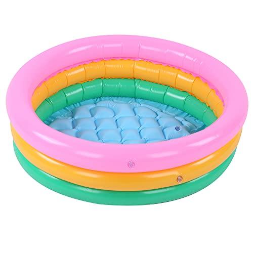 KXIUOA Piscina para niños, Piscina para niños con Lavabo, Piscina Inflable, Piscina Inflable Suave para niños Piscina para bebés con Forma Redonda y Color Brillante para niños(S#)