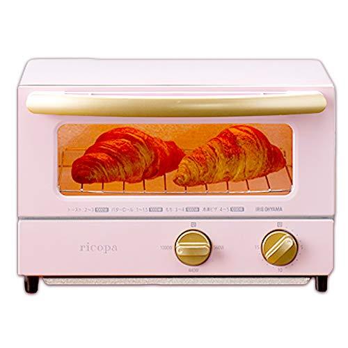 アイリスオーヤマricopa オーブントースター 上下ヒーター設計 3段階温度調節 アッシュピンク EOT-R021PA