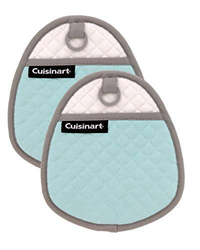 Cuisinart Quilted Silicone Pot Holders and Oven Mitts with Soft Insulated Pockets, 2pk - Heat...
