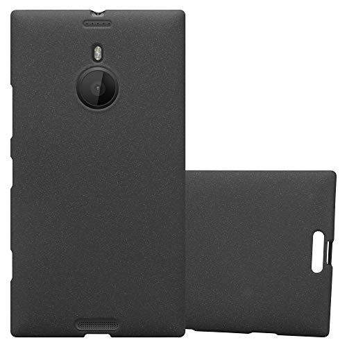 Cadorabo Hülle für Nokia Lumia 1520 - Hülle in Frost SCHWARZ – Handyhülle aus TPU Silikon im matten Frosted Design - Silikonhülle Schutzhülle Ultra Slim Soft Back Cover Hülle Bumper