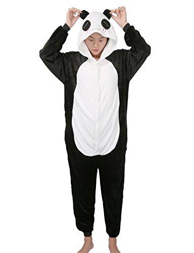 Pyjamas Animales Disfraz Pijama Jumpsuit Adultos Unisex Cosplay Halloween Carnaval Panda Small