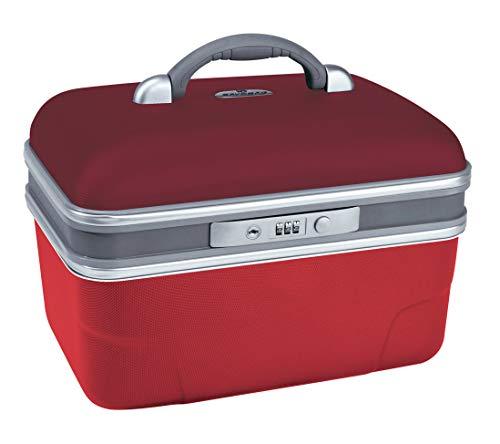 Savebag-Vanity19242, Beauty case 34 cm, Fassungsvermögen: 13 L-Vert d\'eau/ gris étain