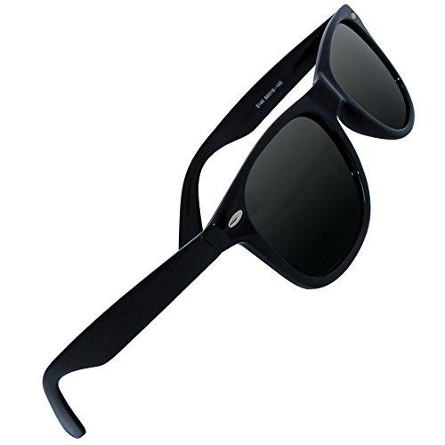 Eye Love Polarized Sunglasses for Men and Women, Glare-Free, 100 Percent Uv Blocking, 5 Plus Colors (Glossy Black Frame, Grey High Definition Polarized Lenses)