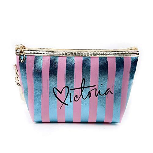 Sacs à cosmétiques Mode Cuir Femmes Make Up Bag PVC Pouch Wash Organisateur de Voyage Case 18.5 * 7.5 * 10.5cm-A_18.5 * 7.5 * 10.5cm