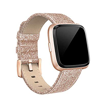 "Swees for Fitbit Versa Bands Sport Silicone Small & Large (5.7"" - 8.3""), Two Tone Breathable Replacement Bands with Air Holes for Fitbit Versa Smartwatch Women Men, Black, Grey, Navy Blue, Pink, White"
