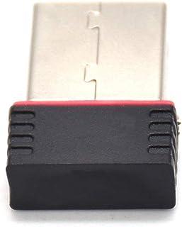 hudiemm0B USB Network Card, 150M Portable Mini WiFi USB 2.0 Wireless Network Card LAN Adapter for PC Laptop