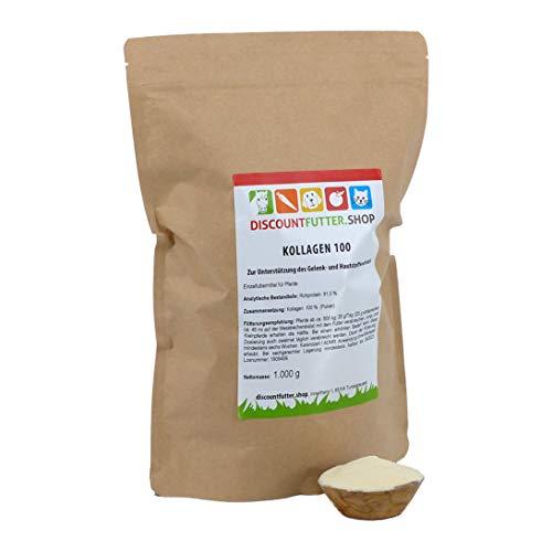 discountfutter.shop Kollagen 100 (Typ II; 1 kg) - höchste Reinheit - hochwertige Kollagenpeptide für den Gelenkstoffwechsel