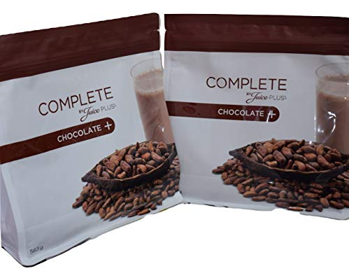 2 X Juice Plus Chocolate Complete Shake 563 g Each + Free Spoon/Protein Rich Drink Healthy Nutrition