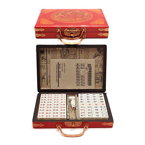 Lim Riichi Chino Mahjong Sistema Completo Tamaño 144 Azulejos (Mahjongg, Mah-Jong, Juego de Mah Jong, Majiang) S-Mini