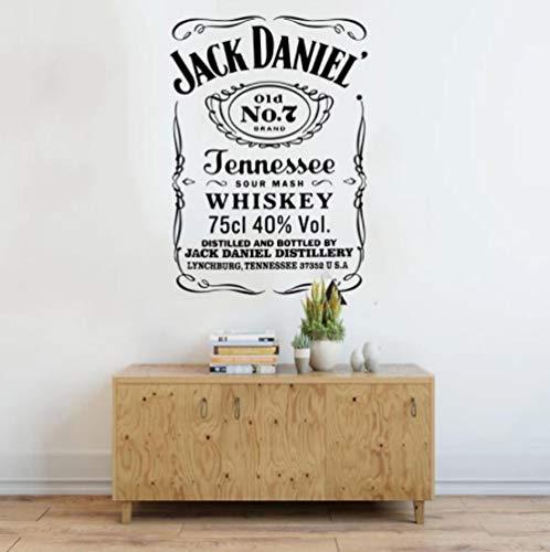 Peaky Blinders Pub Whisky Etiqueta de la pared Bar Cocina Bebida Vino Cita Garaje Bar Hombre Cueva Vino Etiqueta de la ventana Papel tapiz de vinilo 56 * 40cm