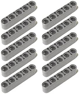 LEGOブロック・純正パーツ<テクニック・リフトアーム>1 x5(厚) [行輸入品] (10個, Light Bluish Gray)