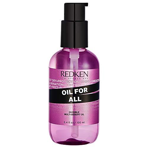 Redken Oil For All, Styling-Öl für maximalen Glanz, ohne zu beschweren, Anti-Frizz Haar-Öl, Feuchtigkeitspflege für Längen und Spitzen, für alle Haartypen, 100 ml