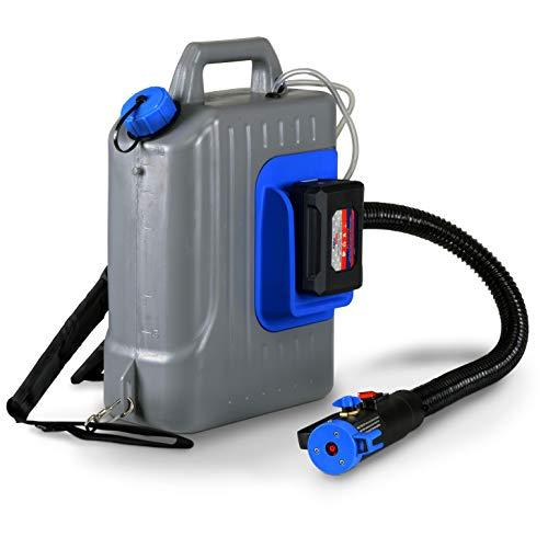 AlphaWorks Fogger Machine Disinfectant ULV Sprayer 48V DC Lithium Ion Cordless Backpack Mist Duster Blower 2.6GAL 1-10GPH Adjustable Particle Size 0-50um/Mm