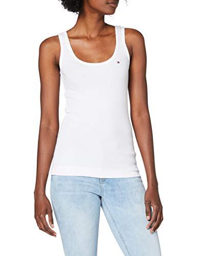 Tommy Hilfiger Beryl Tank Top Camisa, Blanco (White), X-Large para Mujer