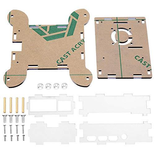 weichuang Elektronisches Zubehör, 3 Stück, blau, Acryl, Wandmontage, Schutzgehäuse für RPi 4 Modell B Elektronikzubehör Elektronikzubehör
