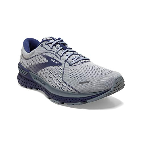 Brooks Men\'s Adrenaline GTS 21, Grey/Blue, 12 Medium