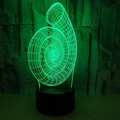 Nachtlampje met spiraal, 3D-nachtlampje, ledverlichting, flitser, USB-interface, touch-afstandsbediening, kinderkamerdecoratie, kerstcadeau.