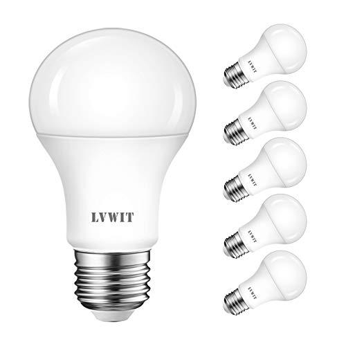 LED E27 Birne, 75W Kaltweiß 6500K, ultrahell 1055 lm, matte LED Lampe (6er Pack) - LVWIT