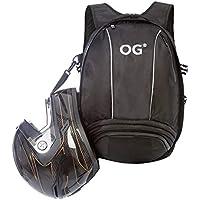 OG Online&Go EZ-Rider Mochila Moto Negra 25-35L, Bolsa Porta-Cascos, Correa Casco Moto, Antirrobo, Impermeable, Portátil, Reflectante