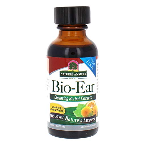 Nature's Answer Bio-Ear   Promotes Healthy Ears   Herbal Extracts Topical Formula   Vegan, Gluten-Free, Non-GMO & Kosher Certified   1oz