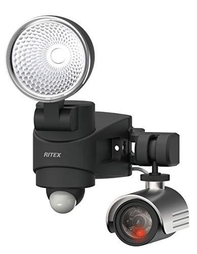 ムサシ(MUSASHI) センサーライト ブラック サイズ:幅13.3×奥行14.5×高さ19.6cm ダミーカメラ付き、7W LEDセンサーライト DMC-SL7H