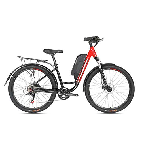AISHFP Adult 26 Inch Electric Mountain Bike, Lithium Battery LCD Display Commuter Bicycle, Aluminum Alloy Frame Variable Speed City E-Bikes,A,27.5Inch