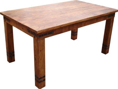 Guru-Shop Kolonialstil-Esstisch R509 Hell Klassisch - Modell 5, Braun, Länge: 180 cm, Esstische & Küchentische