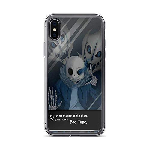 Contain for iPhone Xs Max Cases Undertale Sans Role Play American Indie Game Pure Clear Phone Casess Cover
