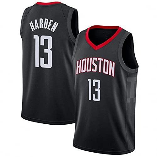 AGLT 2021 NBA Hombre Basketball Jersey,Rockets n#13 Harden Ropa de Baloncesto,Camisetas Al Aire Libre Casual Mujer Redondo CháNdales,G,S