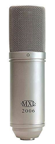 MXL 2006 Large Gold Diaphragm Condenser Microphone with MXL-57 Shock Mount and Carrying Case