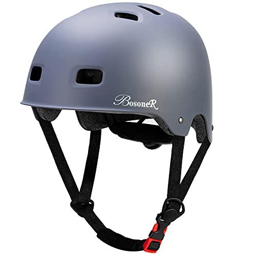 Casco Bicicleta, Casco de monopatín Ajustable multideportivo para niños jóvenes Adultos, Resistencia al Impacto ventilación Seguridad Casco Protector para patineta BMX Patinaje sobre Ruedas en línea 🔥