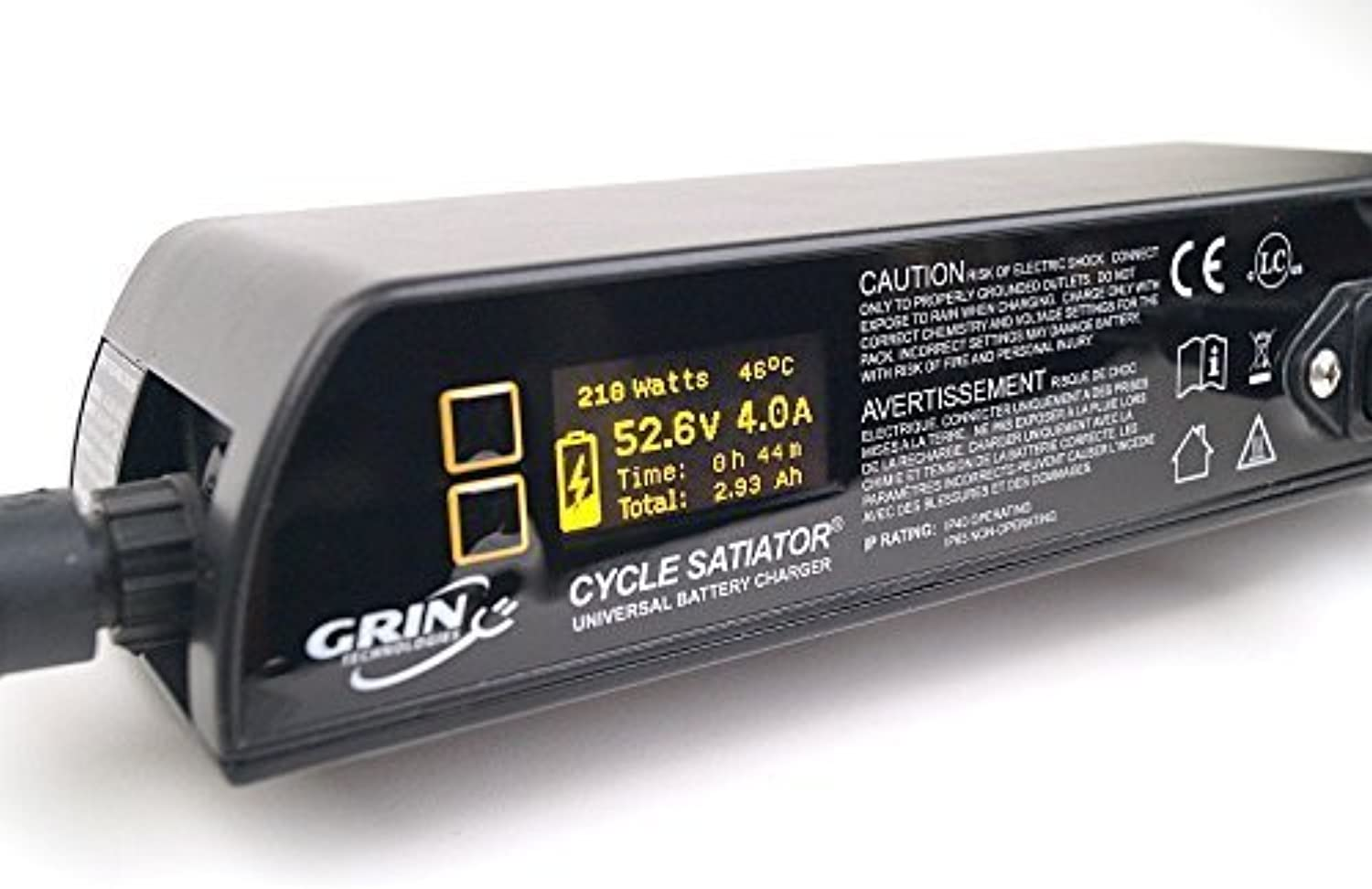 Cycle Satiator  Programmable Electric Bike Battery Charger  24, 36, 48, 52 V