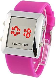 HUFAN Fashion Digital LED Quartz Wrist Watch(White) (Color : Purple)