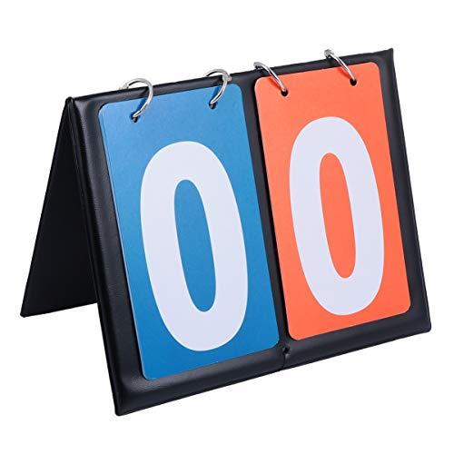 FAVOMOTO Pizarra digital de puntuación para baloncesto, bádminton, tenis, fútbol, voleibol, color rojo y azul
