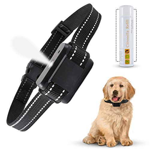 KATUR Citronella Bark Collar, [2021 Newest] Rechargeable Waterproof Dog Bark Spray Collar Training Collar Adjustable Sensitivity and Volume of Spray for Small Medium and Large Dog