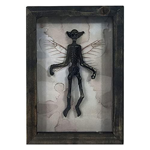 LOVIVER Novedad Resina alienígena Marco de Fotos para Colgar en la Pared Adorno de Halloween estatuilla gabinete de Oficina Soporte de TV Arte Artesanal - Negro