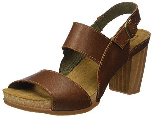 El Naturalista S.A N5020 Ibon Kuna Zapatos de tacón con punta abierta, Mujer, Marrón (Wood), 40 EU (7 UK)