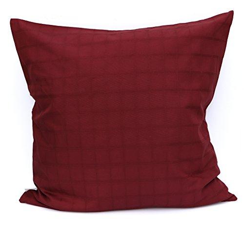 Adamlinens Adam Linens 100% Cotton Jacquard Plain Dyed Cushion Cover (Wine, 20' x 20')