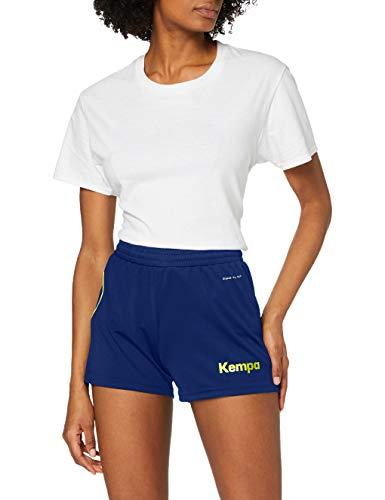Kempa Femme Curve Short, Deep Bleu/Fluo Jaune, L