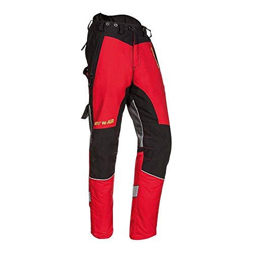 Sioen SI-S-T1SNW CB XS W-AIR Kettensägenhose, Rot-Schwarz, XS, 5 Stück