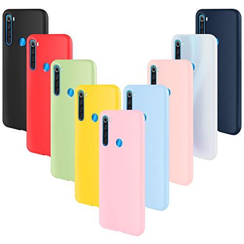 ivencase 9 × Funda Xiaomi Redmi Note 8, Carcasa Fina TPU Flexible Cover para Xiaomi Redmi Note 8 (Rosa Gris Rosa Claro Amarillo Rojo Azul Oscuro Translúcido Negro Azul Claro)