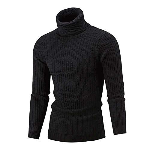 Homebaby Maglione a Collo Alto Uomo Elegante Pullover Jumper Dolcevita Felpa Sportiva Camicetta a Maniche Lunghe Taglie Forti Casual Primaverile Invernale Caldo Tops