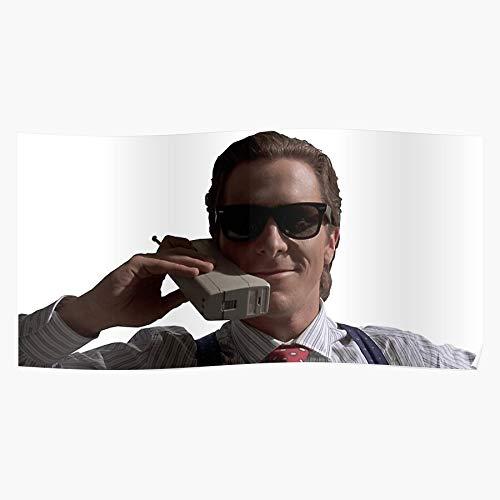 Christian Bateman Cellphone Patrick Bale Phone Cell American Psycho Home Decor Wandkunst drucken Poster !