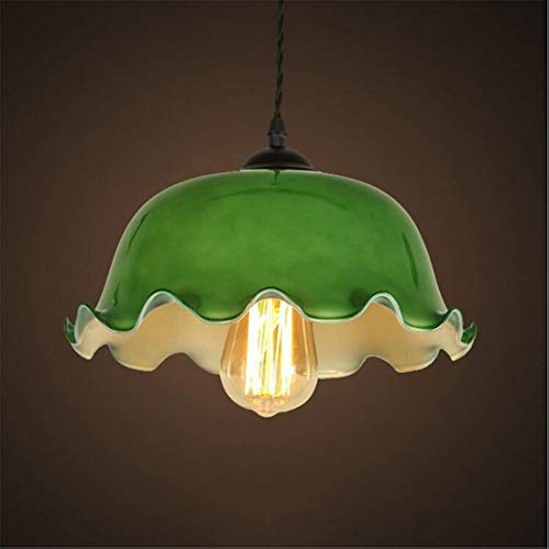 Nachttischlampe Kronleuchter Glas, Amerikanische Retro Bar Café Bar Farbe Lotus Glas Innenbeleuchtung Lampe (Farbe  (A)
